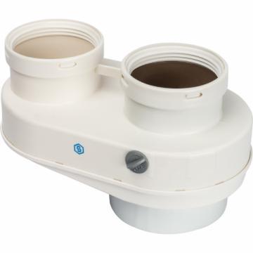STOUT Элемент дымохода 80/80 адаптер для подкл. разд. труб (совместимый  Baxi ) PP-Ryton (Stout - Италия)