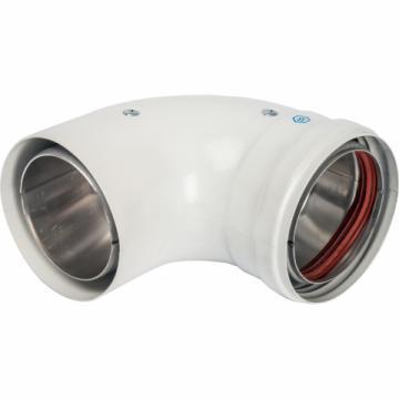 STOUT Элемент дымохода отвод 90° п/м  80 (групповая упаковка 10 шт) (Stout - Италия)