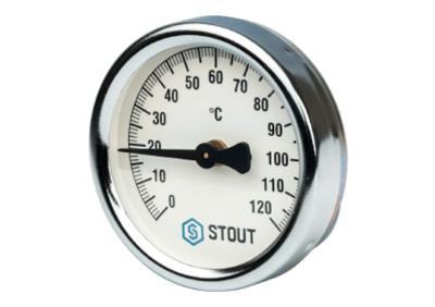 Термометр биметаллический накладной с пружиной корпус ? 63 мм (Stout - Италия)