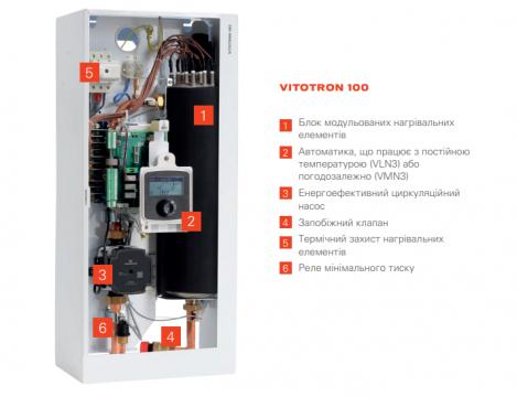 Электрокотел Vitotron 100 VLN3-24 с постоянной температурой подачи 24 кВт