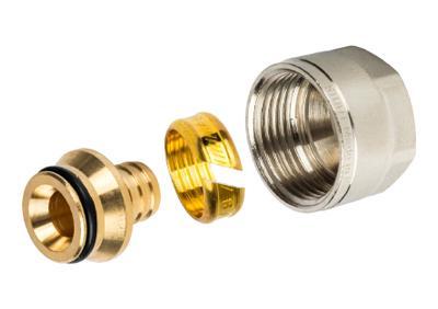 Фитинги компрессионные для труб PE-X 16х2,0х3/4 (Stout - Италия)