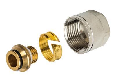 Фитинги компрессионные для труб PE-X/AL/PE-X 16х2,0х3/4 (Stout - Италия)