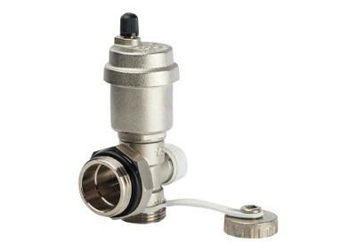 Регулируемый концевой фитинг с дренажным клапаном автоматическим воздухоотводчиком (Stout - Италия)