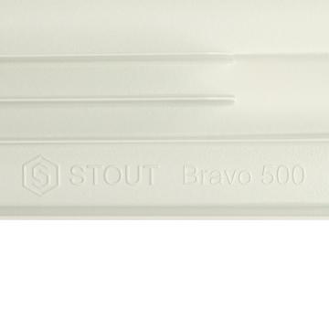 Алюминевый радиатор Bravo 500 4 секции (Stout - Италия)