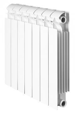 Global STYLE PLUS 500 6 секций радиатор биметаллический боковое подключение  (ИТАЛИЯ,белый RAL 9010)