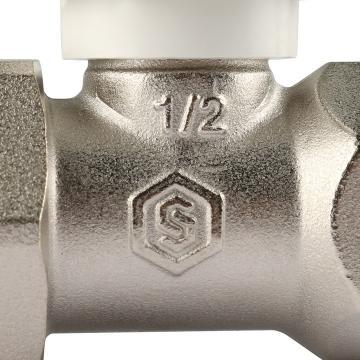 Клапан ручной терморегулирующий, прямой 1/2 (Stout - Италия)