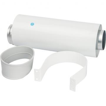STOUT Элемент дымохода  60/100 труба коаксиальная 250 мм п/м, уплотнения и хомут в комплекте (лого) (Stout - Италия)